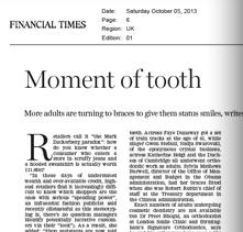 Financial Times 6th October 2013 Nicole Mowbray