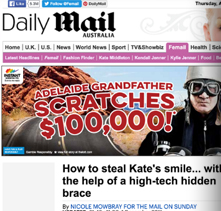 Daily Mail 1st December 2011 Nicole Mowbray