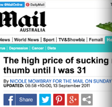 Daily Mail 12th September 2011 Nicole Mowbray